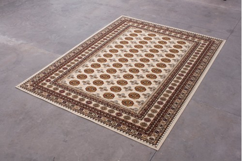 100% Wool Cream Mohatta Woven Rug ZMO029749 Machine Woven in Moldova with a 10mm pile