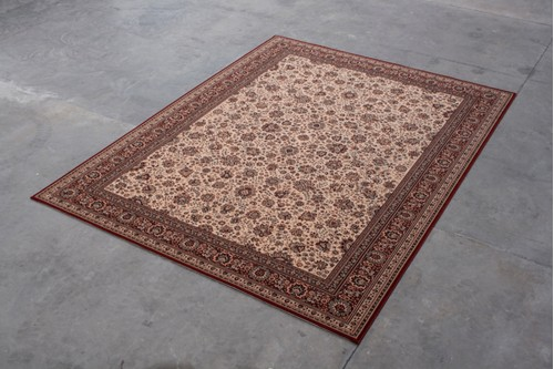 100% Wool Cream Kashmir Woven Rug Design KAS029231 Machine Woven T5 Grade in Belgium with a 10mm pile