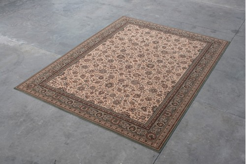 100% Wool Cream Kashmir Woven Rug Design KAS029227 Machine Woven T5 Grade in Belgium with a 10mm pile