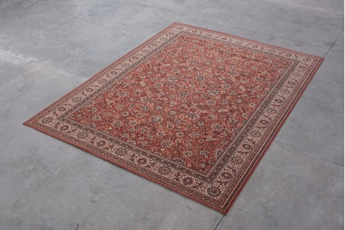100% Wool Rust Kashmir Woven Rug Design KAS029229 Machine Woven T5 Grade in Belgium with a 10mm pile