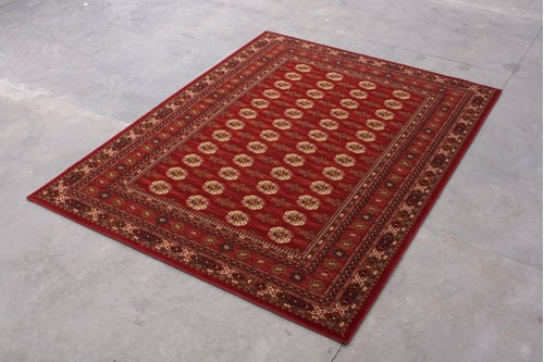 100% Wool Red Mohatta Woven Rug ZMO029751 Machine Woven in Moldova with a 10mm pile