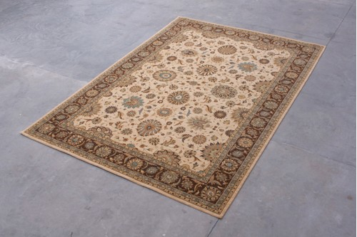 100% Wool Cream Nourison Living Treasures Rug Design NLT030004 Machine Woven in China with a 10mm pile