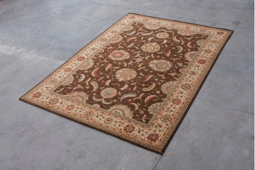 100% Wool Brown Nourison Living Treasures Rug Design NLT029001 Machine Woven in China with a 10mm pile