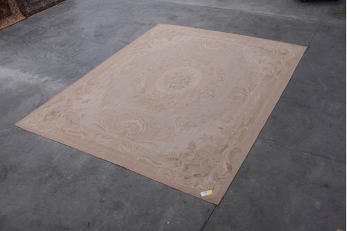 100% Wool Gold Aubusson Rugs and Carpets CAU033310 Handmade in China with a 5mm pile