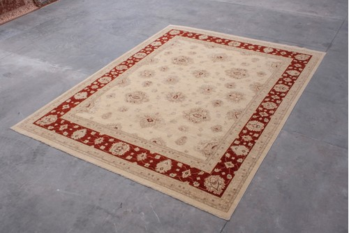 100% Wool Cream Afghan Veg Dye Rug AVE033081 470 x 365 Handknotted in Afghanistan with a 5mm pile