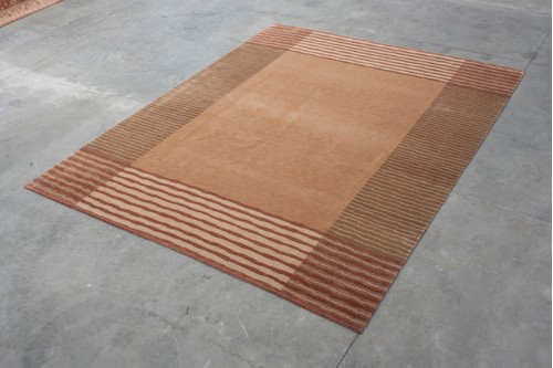 100% Wool Multi Designer Tibetan Rug Design CTN033F06 Handknotted in Tibet with a 12mm pile
