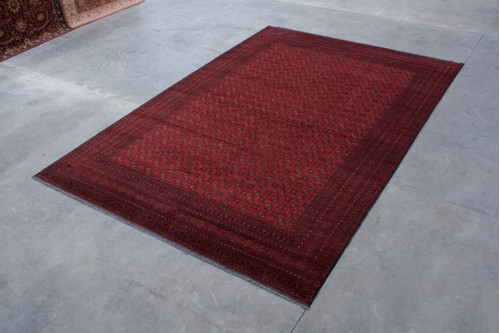 100% Wool Red Afghan Rug Red ARE035000 539x365 Handknotted in Afghanistan with a 6mm pile