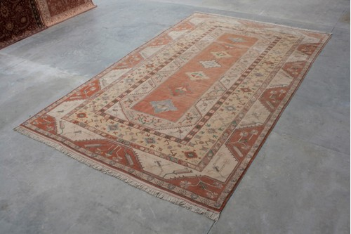 100% Wool Rust Turkish Milas Rug TML036000 610x383 Handknotted in Turkey with a 15mm pile