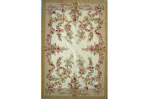 100% Wool Gold Aubusson Rugs and Carpets Handmade in China with a 5mm pile