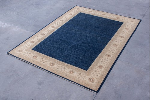 100% Wool Blue Afghan Plain Veg dye AVP030088 419x306 Handknotted in AFghanistan with a pile