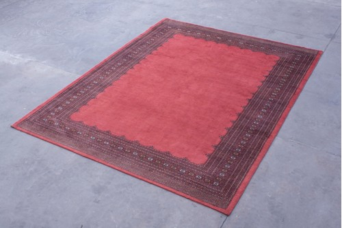 100% Wool Rose Fine Pakistan Bokhara Rug Design BOF0300048 4.00 x 3.15 Handknotted in Pakistan with a 10mm pile