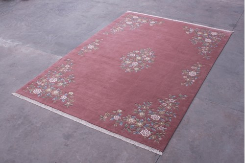 100% Wool Rose Indian Mahal Handknotted in India with a 20mm pile