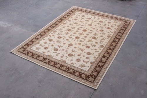 95% Wool / 5% Silk Cream Royal Yelmi Rug Design CWS030275 4.20x3.05 Handtufted in China with a 12mm pile