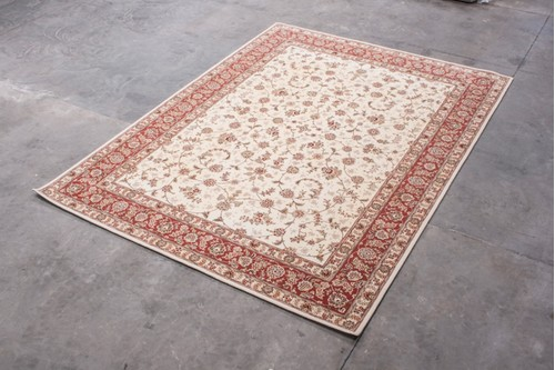 95% Wool / 5% Silk Cream Royal Yelmi Rug Design CWS030270 4.15x3.05 Handtufted in China with a 12mm pile