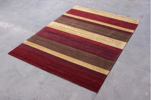 100% Wool Multi Ella Claire Rug ECA030003 Handmade in India with a 20mm pile