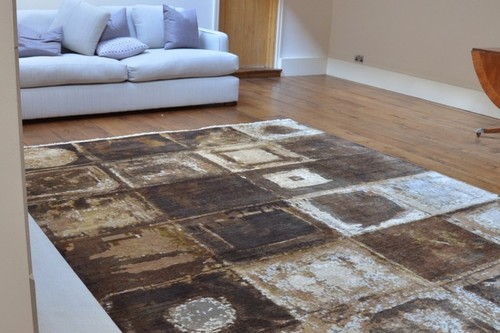 80% Wool/20% Silk Multi Ella Claire Rug Design Handknotted in India with a 12mm pile