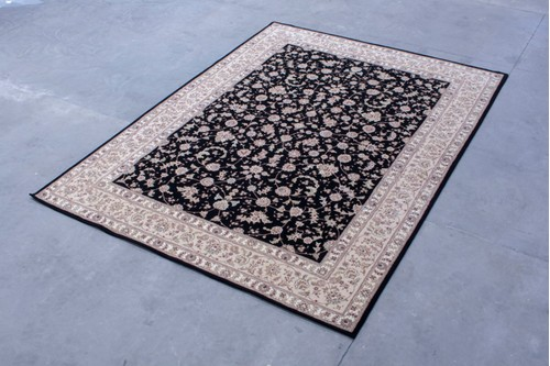 95% Wool / 5% Silk Black Royal Yelmi Rug Design CWS030264 4.20x3.05 Handtufted in China with a 12mm pile