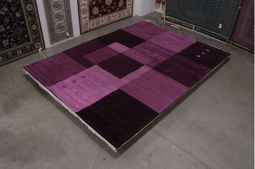 100% Acrylic Purple Chinese Acrylic Rug ACR030246 417x305 Handmade in China with a 10mm pile