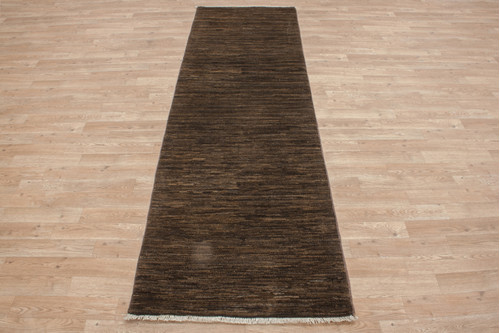 100% Wool Afghan Modern Rug AGA044000 244x76 Handknotted in Afghanistan with a 5mm pile