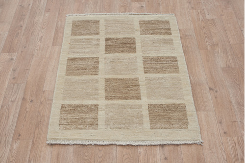 100% Wool Afghan Modern Rug AGM006000 96x61 Handknotted in Afghanistan with a 5mm pile
