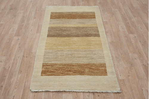 100% Wool Afghan Modern Rug AGM012000 151x75 Handknotted in Afghanistan with a 5mm pile