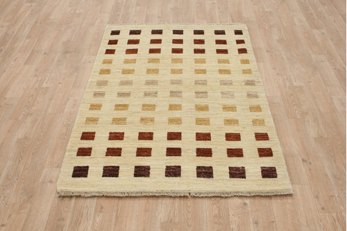 100% Wool Afghan Modern Rug AGM013000 154x92 Handknotted in Afghanistan with a 5mm pile