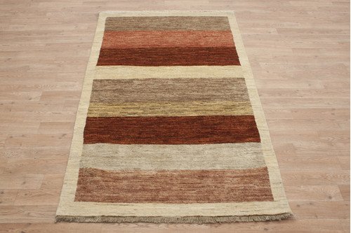 100% Wool Afghan Modern Rug AGM013000 170x101 Handknotted in Afghanistan with a 5mm pile