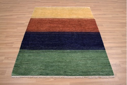100% Wool Multi Afghan Modern Rug AGM018000 1.79 x 1.29 Handknotted in Afghanistan with a 6mm pile