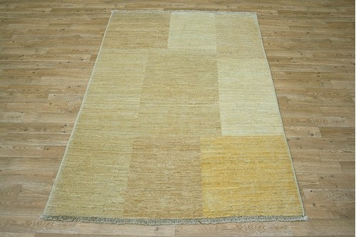 100% Wool Beige Afghan Modern Rug AGM018000 1.84 x 1.23 Handknotted in Afghanistan with a 6mm pile
