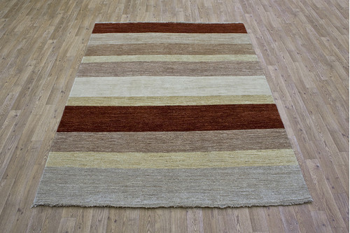100% Wool Multi Afghan Modern Design AGM019000 205 x 153 Handknotted in Afghanistan with a 5mm pile