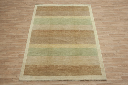 100% Wool Afghan Modern Rug AGM023000 283x200 Handknotted in Afghanistan with a 5mm pile