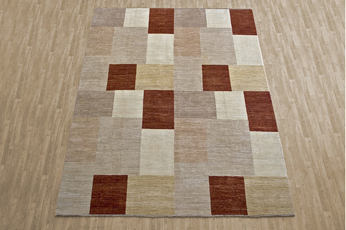 100% Wool Multi Afghan Modern Design AGM028000 362 x 274 Handknotted in Afghanistan with a 5mm pile