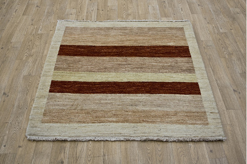 100% Wool Multi Afghan Modern Design AGM090000 104 x 101 Handknotted in Afghanistan with a 5mm pile
