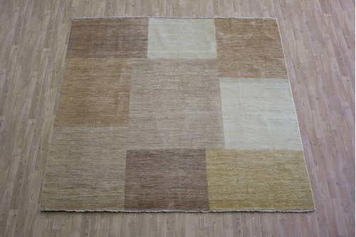 100% Wool Multi Afghan Modern Design AGM094000 248 x 247 Handknotted in Afghanistan with a 5mm pile