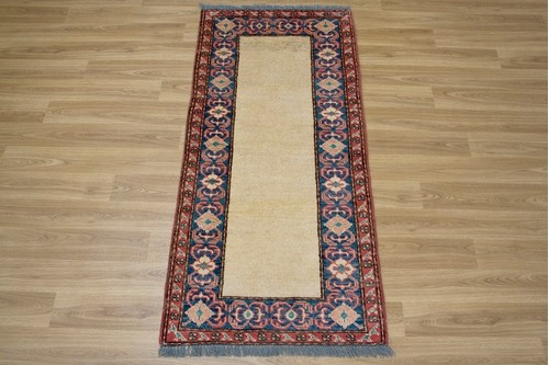 100% Wool Multi Afghan Kaynak Rug AKA010000 1.30 x .62 Handknotted in Afghanistan with a 5mm pile