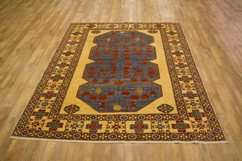 100% Wool Multi Afghan Kaynak Rug AKA023000 265 x 220 Handknotted in Afghanistan with a 5mm pile