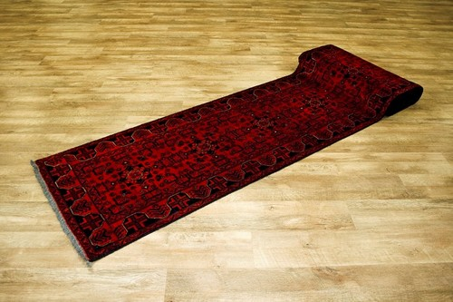 100% Wool Rust Afghan Kundoz Rug AKU056000 696 x 79 Handknotted in Afghanistan with a 8mm pile