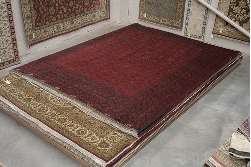 100% Wool Red Afghan Red Rug ARE034000 465x396 Handknotted in Afghanistan with a 5mm pile