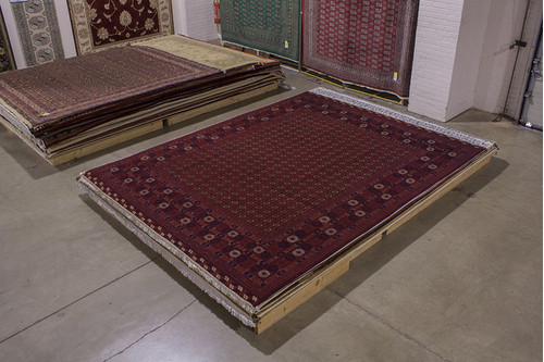 100% Wool Red Fine Afghan Shakh Rug ASH029000 3.76 x 2.95 Handknotted in Afghanistan with a 5mm pile