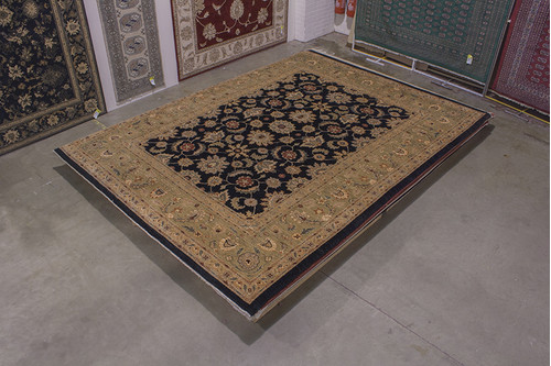 100% Wool Black Afghan Veg Dye Rug AVE030025 409x314 Handknotted in Afghanistan with a 5mm pile