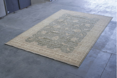 100% Wool Cream Afghan Veg Dye Rug AVE035090 534x368 Handknotted in Afghanistan with a 5mm pile