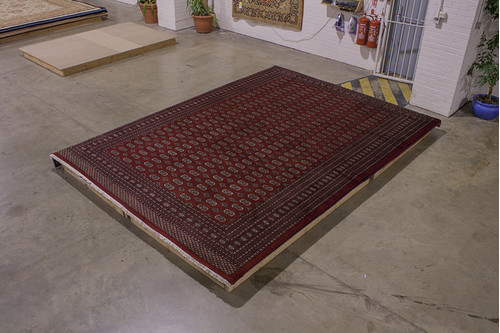 100% Wool Red Fine Bokhara Rug BOK030052 438x310 Handknotted in Pakistan with a 10mm pile