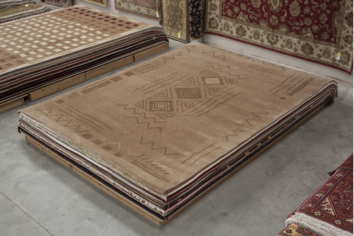 100% Wool Beige Fine Tibetan Rug CTN030110 427x305 Handknotted in China with a 20mm pile
