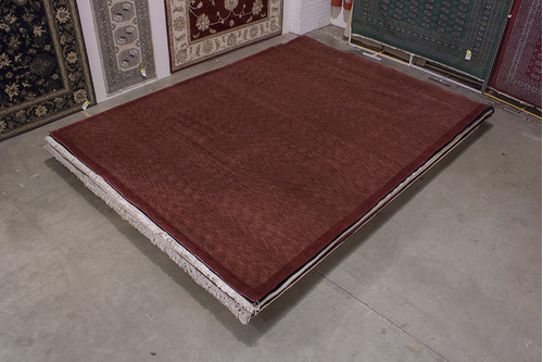 100% Wool Rust Fine Tibetan Rug CTN030119 421x305 Handknotted in Tibet with a 18mm pile
