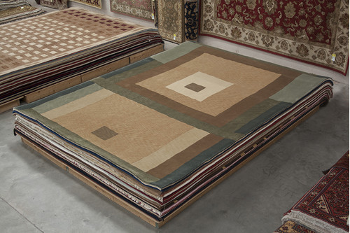 100% Wool Multi Designer Tibetan Rug Design CTN030F08 Handknotted in China with a 20mm pile