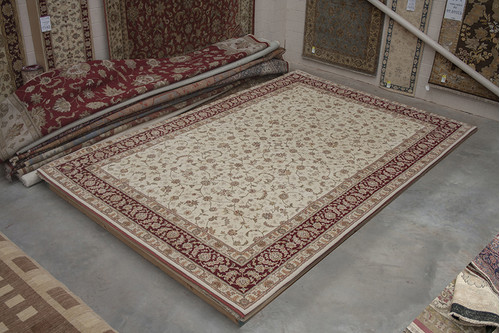 95% Wool / 5% Silk Cream Royal Yelmi Rug Design CWS035265 553x374 Handknotted in China with a 20mm pile