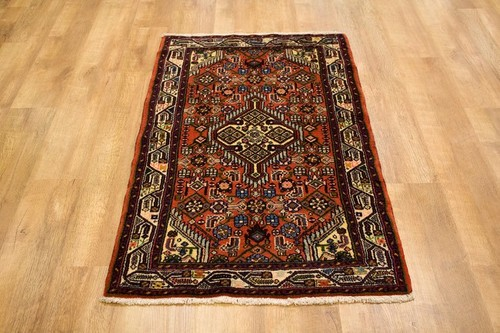 100% Wool Multi Persian Hamadan Rug HAM009000 127 x 84 Handknotted in Iran with a 11mm pile
