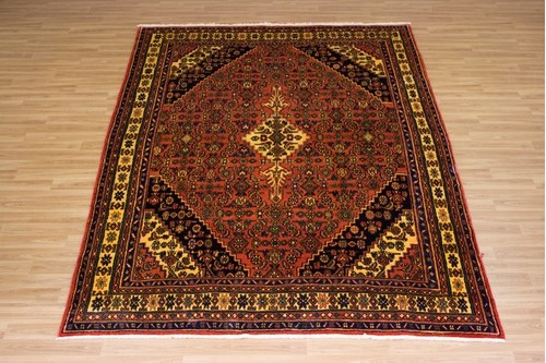 100% Wool Multi Persian Hamadan Rug HAM027000 3.27 x 2.27 Handknotted in Iran with a 11mm pile