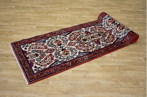 100% Wool Multi Persian Hamadan Rug HAM045000 3.02 x .75 Handknotted in Iran with a 11mm pile