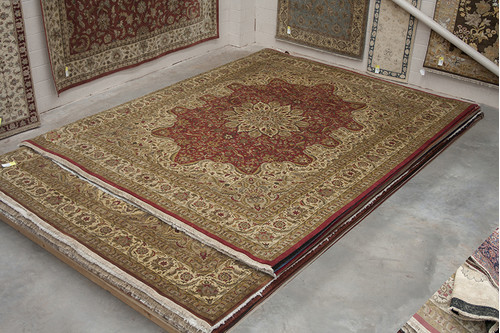 100% Wool Red Fine Indo Persian IFM033095 452x370 Handknotted in India with a 20mm pile
